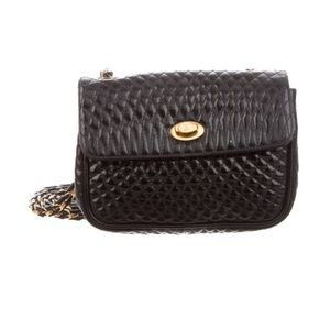 Bally Quilted Mini Leather Crossbody Bag